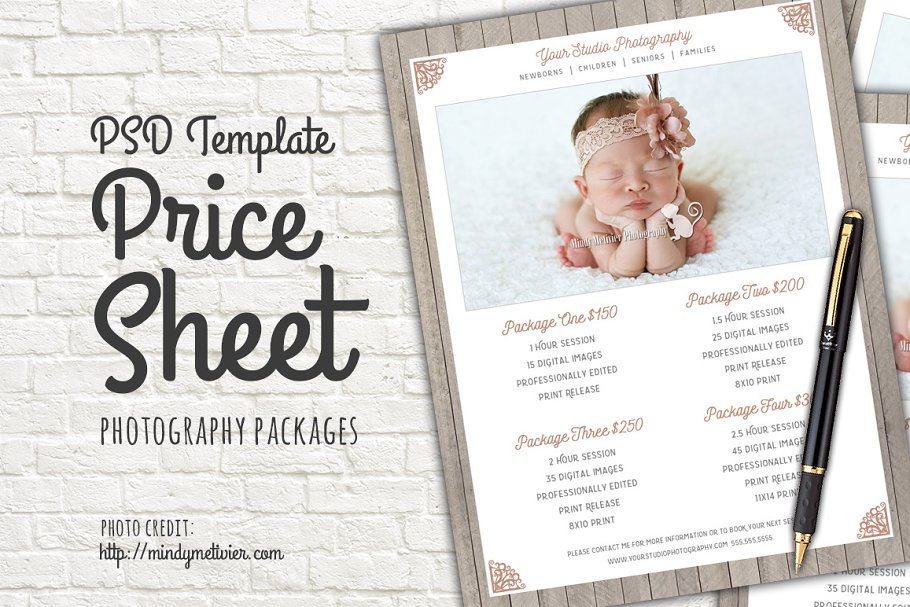 Photography Packages Price List PSD