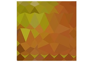 Cocoa Brown Abstract Low Polygon Bac