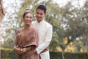 Happy Couples in Thai National Dress