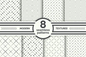 Modern geometrical seamless patterns