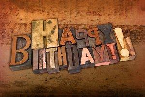 Letterpress Happy Birthday Mixup