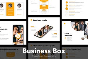 Business Box PowerPoint Template