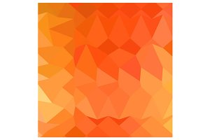 Spanish Orange Abstract Low Polygon