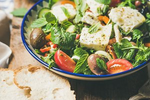 Traditional homemade Greek salad