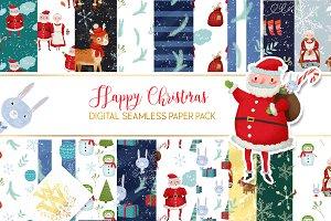Cute seamless Christmas paper