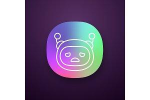 Sad robot emoji app icon