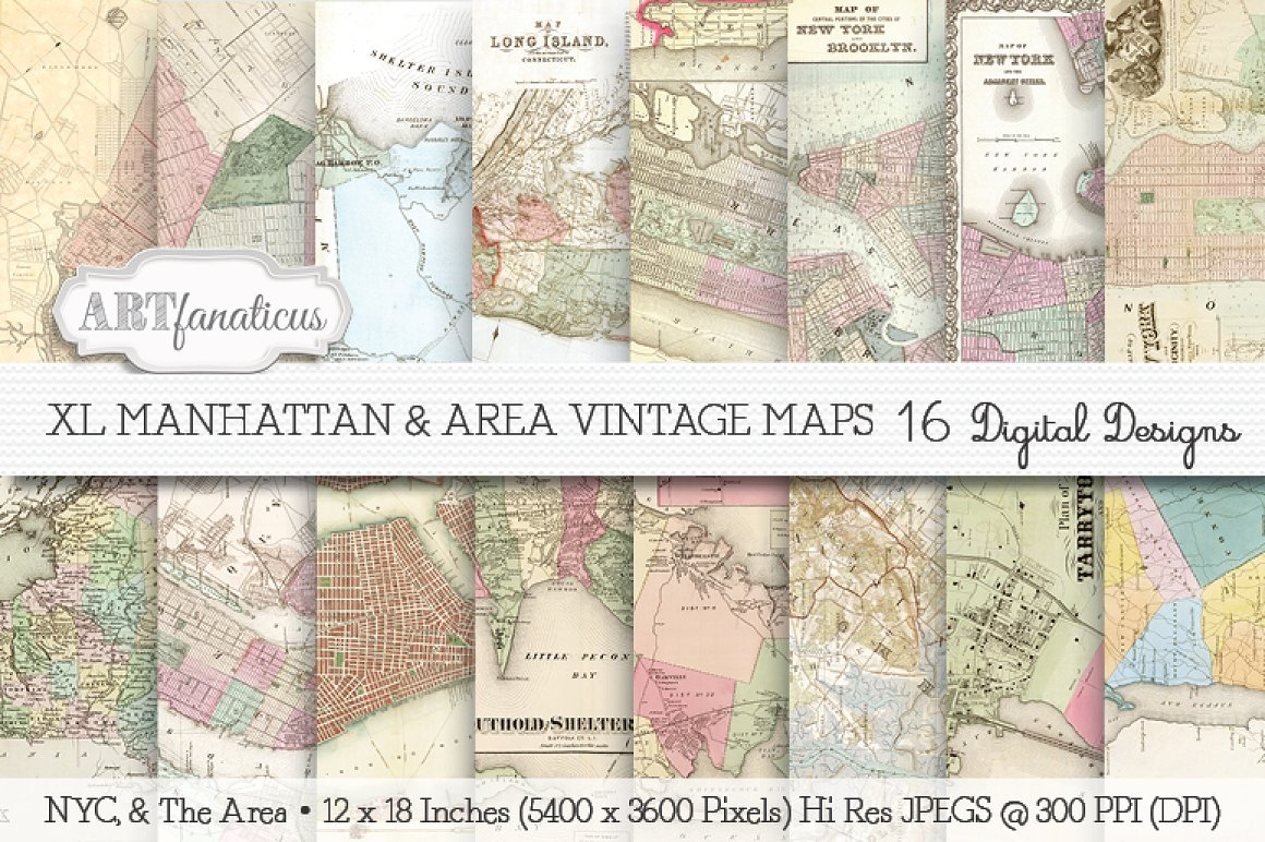 50 Beautiful Vintage Maps for All Your Retro Designs