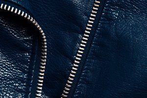 top view of dark blue leather textil