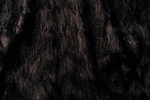top view of brown furry textile as b