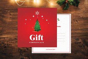 Christmas Gift Certificate-V01