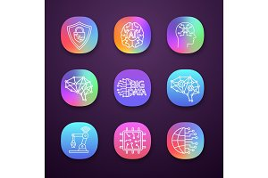 Artificial intelligence app icons