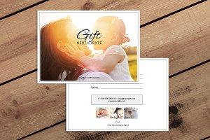 Photographer Gift Certificate-V02