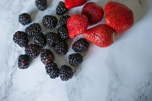 Blackberries & strawberries
