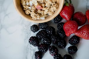 Fresh Berries and cereal