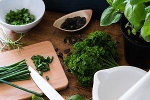 Processing various herbs