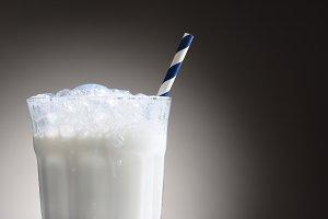 Milk Glass and Straw