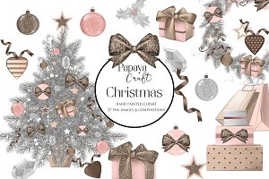Pastel Christmas Clipart