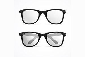 Vector glasses  set