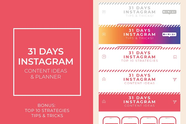 31 Days Instagram Content Planner