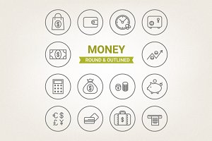 Circle money icons
