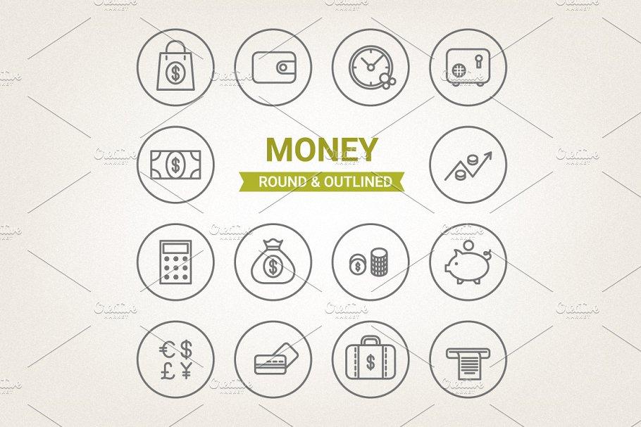 Circle money icons