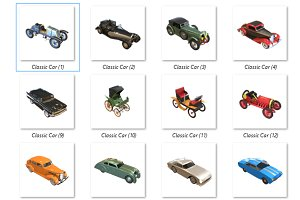 24 Icon pack Classic car