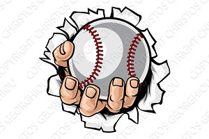 Baseball Ball Hand Tearing