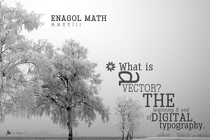 Enagol Math Rounded -4 fonts-