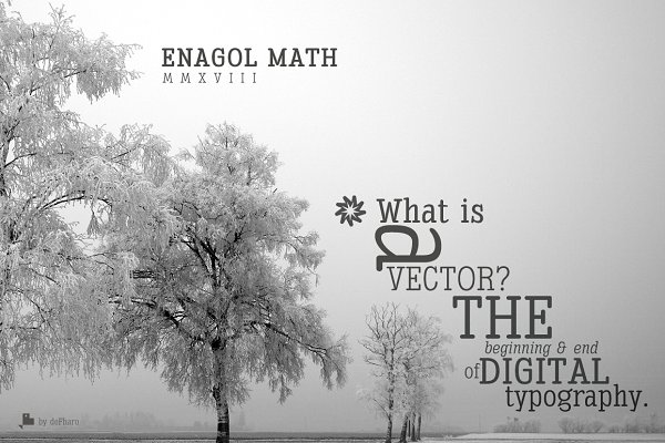 Slab Serif Fonts: deFharo - Enagol Math Rounded -4 fonts-