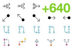 SMASHICONS - 640+ Arrow Icons -