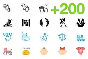 SMASHICONS - 200+ Baby Icons -