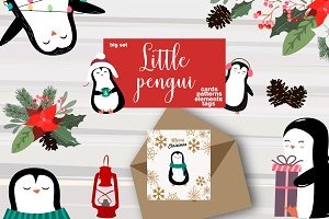 Little Penguins Christmas set
