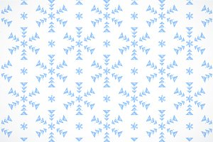 Grunge geo snowflakes pattern
