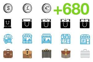 SMASHICONS - 680+ Business Icons -