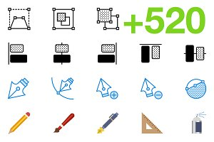 SMASHICONS - 520+ Design Icons -
