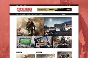 Gamer - Gamers/Tech WordPress Theme