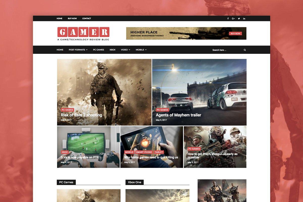 Gamer - Gamers/Tech WordPress Theme