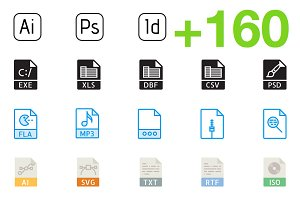 SMASHICONS - 160+ File Types Icons -