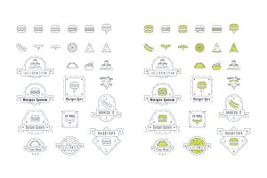 Vector Fast Food Icons & Logos