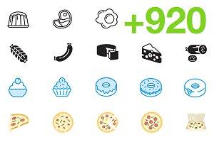 SMASHICONS - 920+ Gastronomy Icons -