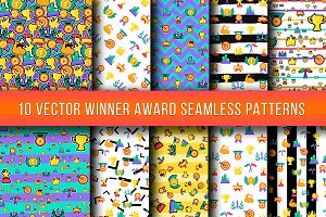 Winner Awards Seamless Patterns