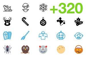 SMASHICONS - 320+ Holiday Icons -