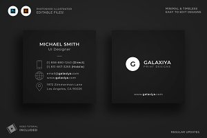 Minimal Square Business Card