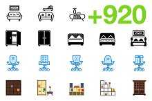 SMASHICONS - 920+ Households Icons -