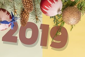 happy new year 2019 and merry christ