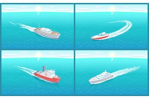Water Transport Cruise Liners Yacht
