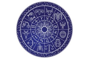 Horoscope and Astrology Circle