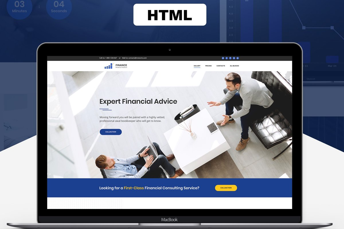Financial Advisor Landing Page
