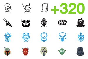 SMASHICONS - 320+ Movie Icons -