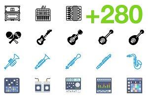 SMASHICONS - 280+ Music Icons -